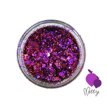 AVAILABLE AT GIRLY BITS COSMETICS www.girlybitscosmetics.com Plum Shattered Flakes by Mitty
