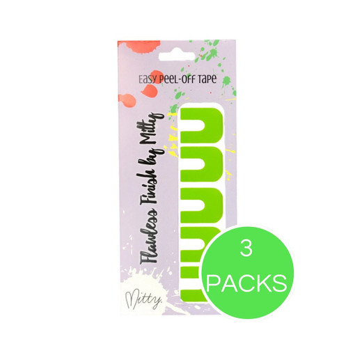 AVAILABLE AT GIRLY BITS COSMETICS www.girlybitscosmetics.com Lime Green Flawless Finish Peel-off Mani Tape by Mitty
