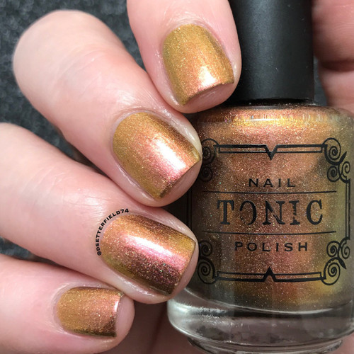 AVAILABLE AT GIRLY BITS COSMETICS www.girlybitscosmetics.com Foxfire (Spring 2017 Collection) by Tonic Polish   Swatch courtesy of @dsetterfield74