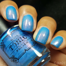 AVAILABLE AT GIRLY BITS COSMETICS www.girlybitscosmetics.com I Pink You Blue Me Off (Spring 2017 Collection) by Tonic Polish   Swatch courtesy of @MrsEnj