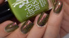 Girly Bits Cosmetics It's Near Leaf All stamped over Tonic Alchemy | Swatch by Manicure Manifesto