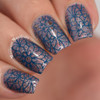 Girly Bits Cosmetics Sea You Next Fall stamped over Slay, Ghoul, Slay | Swatch by Manicure Manifesto