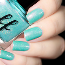 AVAILABLE AT GIRLY BITS COSMETICS www.girlybitscosmetics.com Arctic Crystal (Girly Bits/Femme Fatale Collab) by Femme Fatale | Swatch courtesy of De Briz