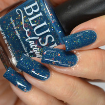 AVAILABLE AT GIRLY BITS COSMETICS www.girlybitscosmetics.com Colliding Constellations (BLUSH Beauties Fall Collaboration Collection) by Blush Lacquers | Photo credit: @rikki_nails_