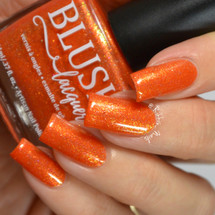 AVAILABLE AT GIRLY BITS COSMETICS www.girlybitscosmetics.com Fall Flame (BLUSH Beauties Fall Collaboration Collection) by Blush Lacquers | Photo credit: @rikki_nails_