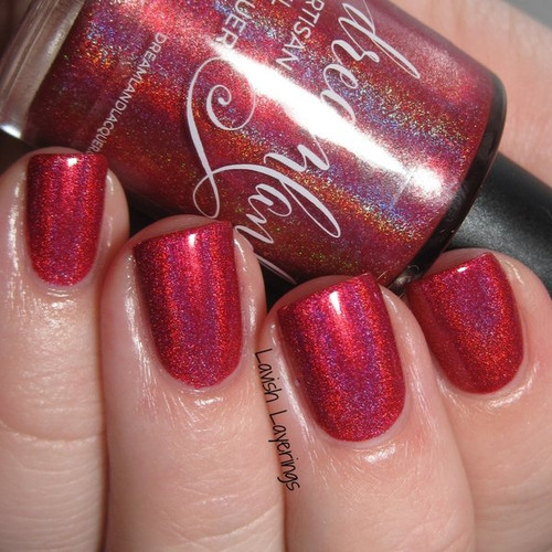 AVAILABLE AT GIRLY BITS COSMETICS www.girlybitscosmetics.com Out, Damned Clot! (Standalone Polishes Collection) by Dreamland Lacquer | Photo credit: Lavish Layerings
