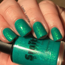 AVAILABLE AT GIRLY BITS COSMETICS www.girlybitscosmetics.com Lazy River (Neon Flakies 2015 Collection) by Dreamland Lacquer | Photo credit: Lavish Layerings