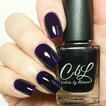 AVAILABLE AT GIRLY BITS COSMETICS www.girlybitscosmetics.com Violet Haze (Winter Jellies/Crellies Collection) by Colors by Llarowe   Swatch courtesy of Delishious Nails