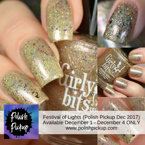 GIRLY BITS COSMETICS Festival of Lights (Polish Pickup December 2017)  | Swatches courtesy of Delishious Nails, Nail Experiments, Streets Ahead Style and Manicure Manifesto