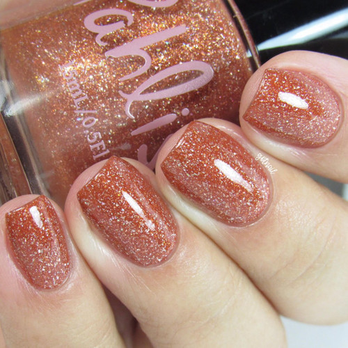 AVAILABLE AT GIRLY BITS COSMETICS www.girlybitscosmetics.com Pumpkin Carriage (September 2017 Collection) by Pahlish | Swatch  provided by @gotnail