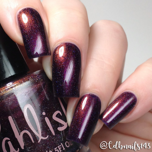 AVAILABLE AT GIRLY BITS COSMETICS www.girlybitscosmetics.com Four Calling Birds (12 Days of Christmas Collection) by Pahlish | Swatch  provided by @cdbnails143
