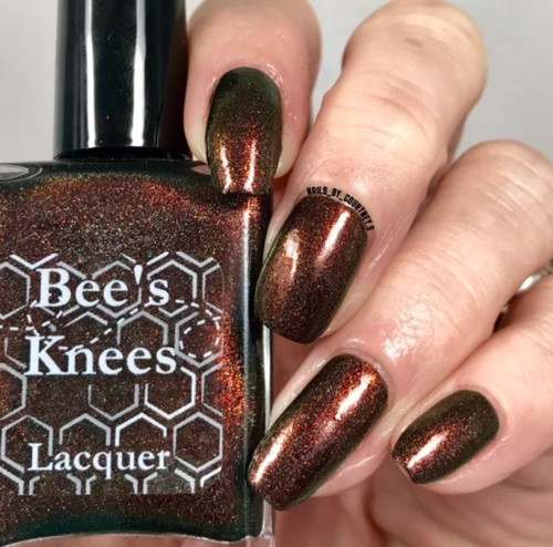 AVAILABLE AT GIRLY BITS COSMETICS www.girlybitscosmetics.com Cheer or Fear? (Dwight Before Christmas Collection) by Bee's Knees Lacquer | Photo credit: @nails_by_courtney.s
