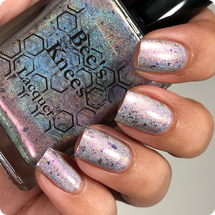 AVAILABLE AT GIRLY BITS COSMETICS www.girlybitscosmetics.com Space Garbage (Dwight Before Christmas Collection) by Bee's Knees Lacquer | Photo credit: @nailmedaily