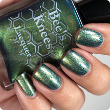 AVAILABLE AT GIRLY BITS COSMETICS www.girlybitscosmetics.com The Bat (Justice League Collection) by Bee's Knees Lacquer   Photo credit: @nailmedaily