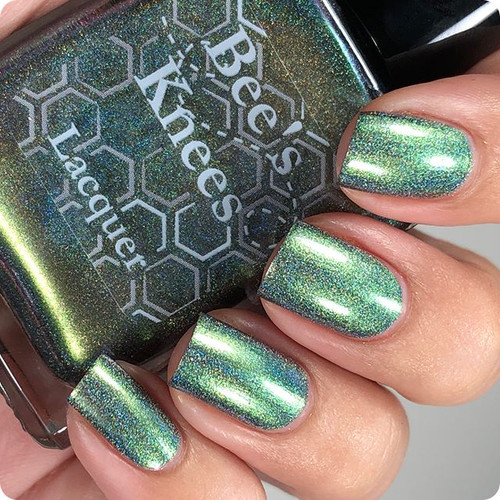 AVAILABLE AT GIRLY BITS COSMETICS www.girlybitscosmetics.com All About That Half-life (Limited Edition Collection) by Bee's Knees Lacquer | Photo credit: @nailmedaily
