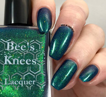 AVAILABLE AT GIRLY BITS COSMETICS www.girlybitscosmetics.com Mermaid Scales (Limited Edition Collection) by Bee's Knees Lacquer | Photo credit: @nails_by_courtney.s