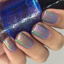 AVAILABLE AT GIRLY BITS COSMETICS www.girlybitscosmetics.com House on Haunted Chill (Pun-kin Is Coming Collection) by Bee's Knees Lacquer | Photo credit: @nailmedaily