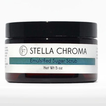 Emulsified Sugar Scrub - 5 oz by STELLA CHROMA available at Girly Bits Cosmetics www.girlybitscosmetics.com  | Photo courtesy of STELLA CHROMA