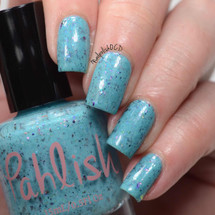 AVAILABLE AT GIRLY BITS COSMETICS www.girlybitscosmetics.com Rainbow Dash (Ponyville Collection) by Pahlish | Swatch  provided by Nail Polish OCD