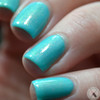 AVAILABLE AT GIRLY BITS COSMETICS www.girlybitscosmetics.com Banana Smoothie OVER Azure Thing (Let's Head to the Beach Collection) by CbL   Photo credit: Polished Pathology