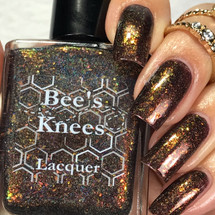 AVAILABLE AT GIRLY BITS COSMETICS www.girlybitscosmetics.com The Devil (Arcana Chronicles Collection) by Bee's Knees Lacquer | Photo credit:  @gurlynailz