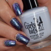 Girly Bits Cosmetics Now & Then (a tribute to Guns N' Roses) from the Concert Series Collection (with Old, New, Borrowed, and Blue from the Bridal Bliss Collection for stamping) | Swatches courtesy of Manicure Manifesto