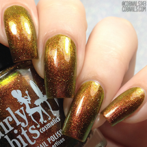 Girly Bits Cosmetics Call of the Zombie (a tribute to Rob Zombie) from the Concert Series Collection | Swatches courtesy of CDB Nails
