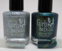 July colour of the month duo by Girly Bits Cosmetics. I've Got My Ion You, and Dime and Dash.