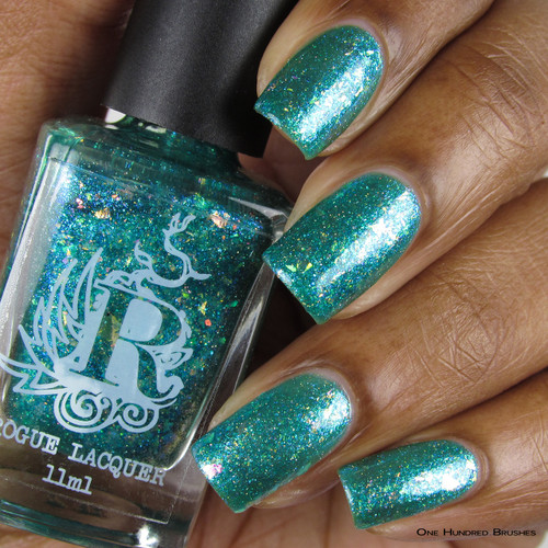 I Washed Up Like This (Sirens of Summer Collection) by Rogue Lacquer available at Girly Bits Cosmetics www.girlybitscosmetics.com    Photo courtesy of One Hundred Brushes