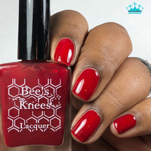 AVAILABLE AT GIRLY BITS COSMETICS www.girlybitscosmetics.com Bitten by a Radioactive Shar Pei (Deadpool Collection) by Bee's Knees Lacquer | Photo credit: Queen of Nails 83