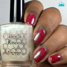 AVAILABLE AT GIRLY BITS COSMETICS www.girlybitscosmetics.com You My Chimichanga (Deadpool Collection) by Bee's Knees Lacquer | Photo credit: Queen of Nails 83