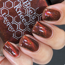 AVAILABLE AT GIRLY BITS COSMETICS www.girlybitscosmetics.com All Dinosaurs Feared the T-Rex (Deadpool Collection) by Bee's Knees Lacquer   Photo credit: IG @nailmedaily
