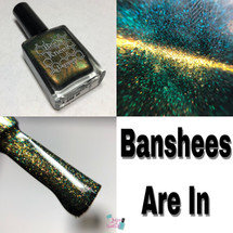 AVAILABLE AT GIRLY BITS COSMETICS www.girlybitscosmetics.com Banshees Are In (UP Siblings Collection) by Bee's Knees Lacquer | Photo credit: Queen of Nails 83
