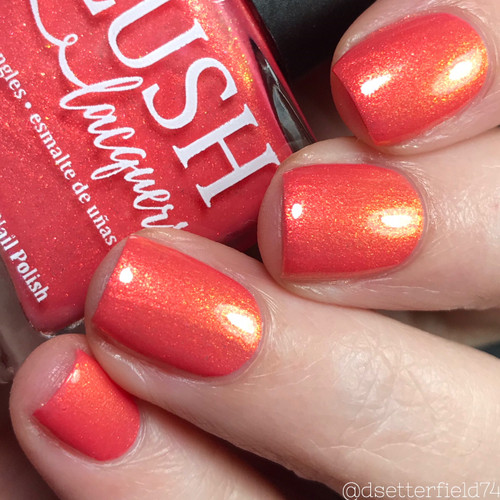 AVAILABLE AT GIRLY BITS COSMETICS www.girlybitscosmetics.com Rio (Beachside Sunset Collection) by Blush Lacquers | Photo credit: IG @dsetterfield74