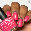 AVAILABLE AT GIRLY BITS COSMETICS www.girlybitscosmetics.com Seychelles (Beachside Sunset Collection) by Blush Lacquers | Photo credit: Queen of Nails 83