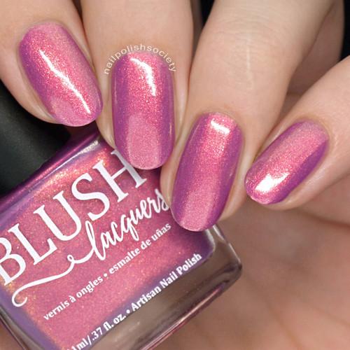 Bora Bora (Beachside Sunset Collection) by Blush Lacquers  Available at Girly Bits Cosmetics | Photo credit: Nail Polish Society