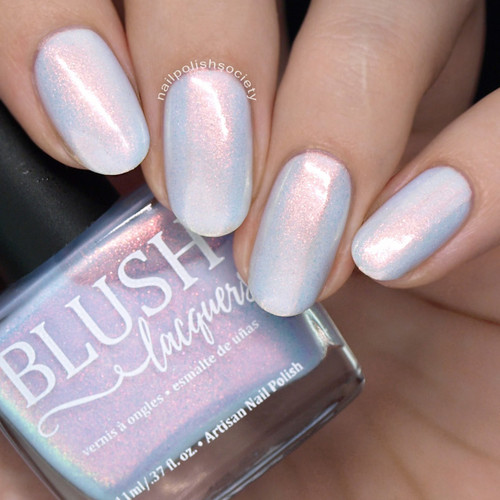 Santorini (Beachside Sunset Collection) by Blush Lacquers  Available at Girly Bits Cosmetics | Photo credit: Nail Polish Society