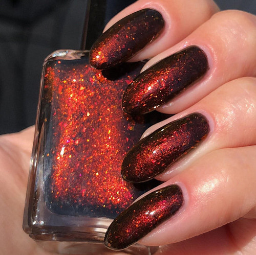 Black Widow by Shleee Polish available at Girly Bits Cosmetics www.girlybitscosmetics.com    Photo courtesy of IG@shleeepolish