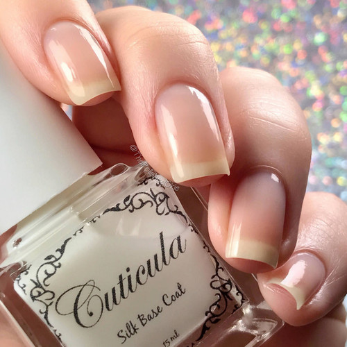 Silk Base Coat by Cuticula available at Girly Bits Cosmetics | Photo credit: IG @thepolishedokie