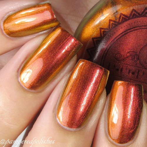 Fire Slick by P.O.P. Polish available at Girly Bits Cosmetics www.girlybitscosmetics.com  | Photo credit: @pameredpolishes