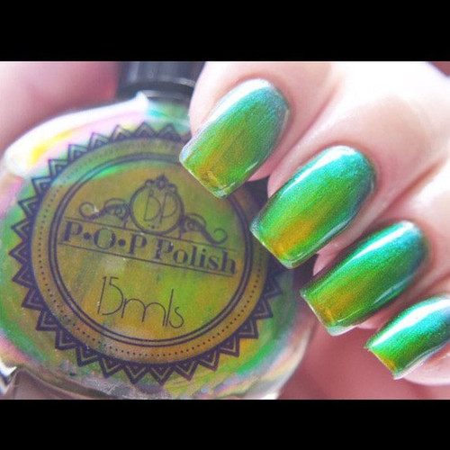 Celery Slick by P.O.P. Polish available at Girly Bits Cosmetics www.girlybitscosmetics.com  | Photo credit: P.O.P. Polish