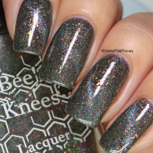 Ghoul Got Your Tongue? (IEC Limited Edition Trio) by Bee's Knees Lacquer AVAILABLE AT GIRLY BITS COSMETICS www.girlybitscosmetics.com | Photo credit:  Intense Polish Therapy