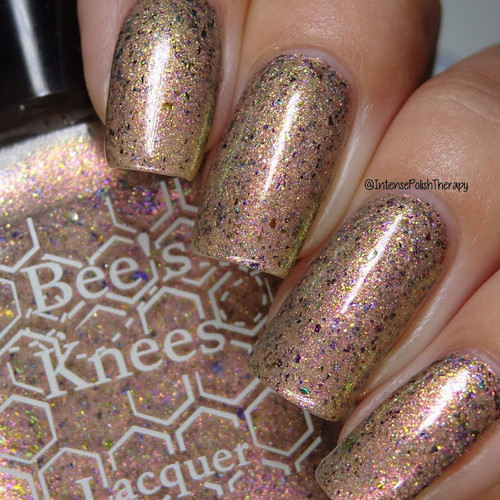 Sparkle On Her Face (IEC Limited Edition Trio) by Bee's Knees Lacquer AVAILABLE AT GIRLY BITS COSMETICS www.girlybitscosmetics.com | Photo credit:  Intense Polish Therapy