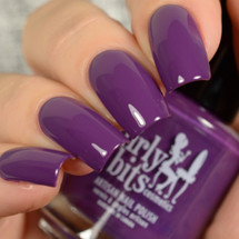 Eggplant One On Me from the Fall 2018 Collection by Girly Bits Cosmetics AVAILABLE AT GIRLY BITS COSMETICS www.girlybitscosmetics.com | Photo credit: Delishious Nails