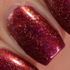 Red Sky at Night (Oct 2018 CoTM) by Girly Bits Cosmetics AVAILABLE AT  www.girlybitscosmetics.com    | Photo credit: Manicure Manifesto