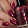 Red Sky at Night (Oct 2018 CoTM) by Girly Bits Cosmetics AVAILABLE AT  www.girlybitscosmetics.com      Photo credit: Manicure Manifesto