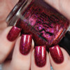 Red Sky at Night (Oct 2018 CoTM) by Girly Bits Cosmetics AVAILABLE AT  www.girlybitscosmetics.com    Photo credit: Cosmetic Sanctuary