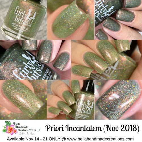 Priori Incantatem (HHC Nov 2018 - Harry Potter Theme) AVAILABLE AT HELLA HANDMADE CREATIONS www.hellahandmadecreations.com | Swatches by Delishious Nails & Nail Experiments