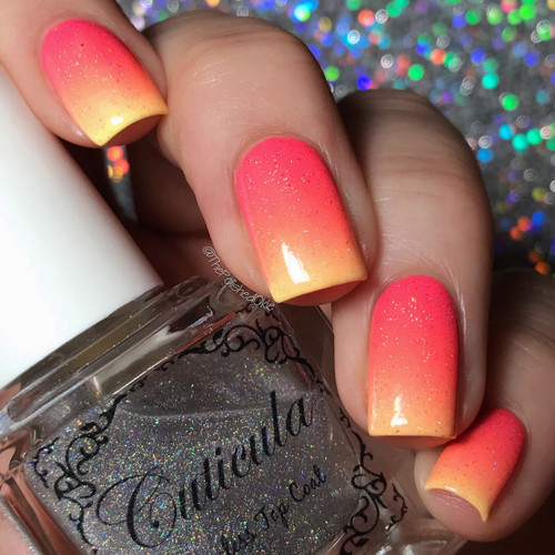 Sparks Fly Top Coat by Cuticula available at Girly Bits Cosmetics | Photo credit: @thepolishedokie