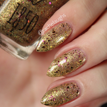 Gilded from the Holiday 2018 Collection by 1850 Artisan Polish AVAILABLE AT GIRLY BITS COSMETICS www.girlybitscosmetics.com | Photo credit: Rachelaughs Nails